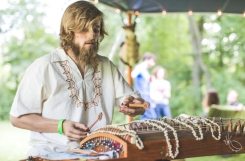 BCG on prepared guzheng zither @ Rock County Folk Symposium | Photo by Audre Rae Photography